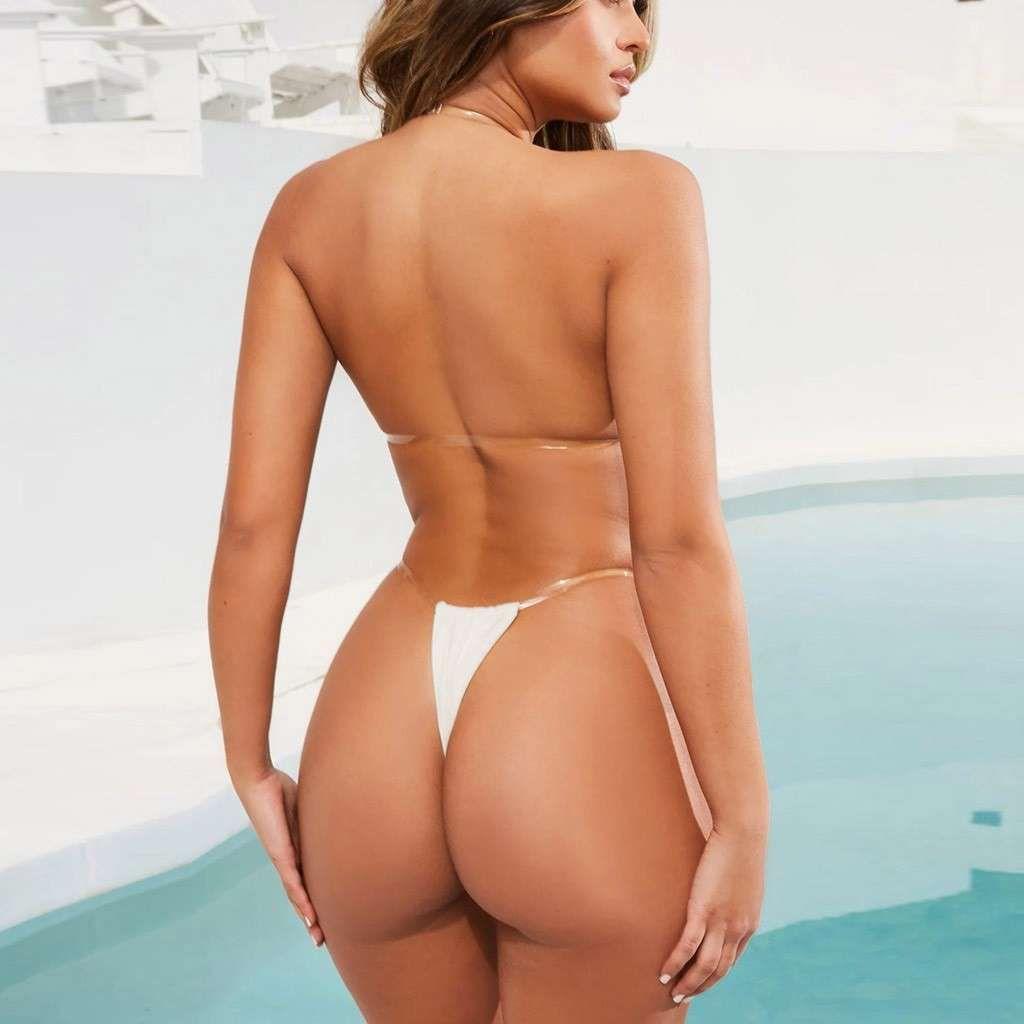 Sagace Swimwear Transparente Sling Color Sólido Señoridades Swimsuits Push Up Pushed Mujeres Baño Trajes de baño Femenino Beach Desgaste 2020