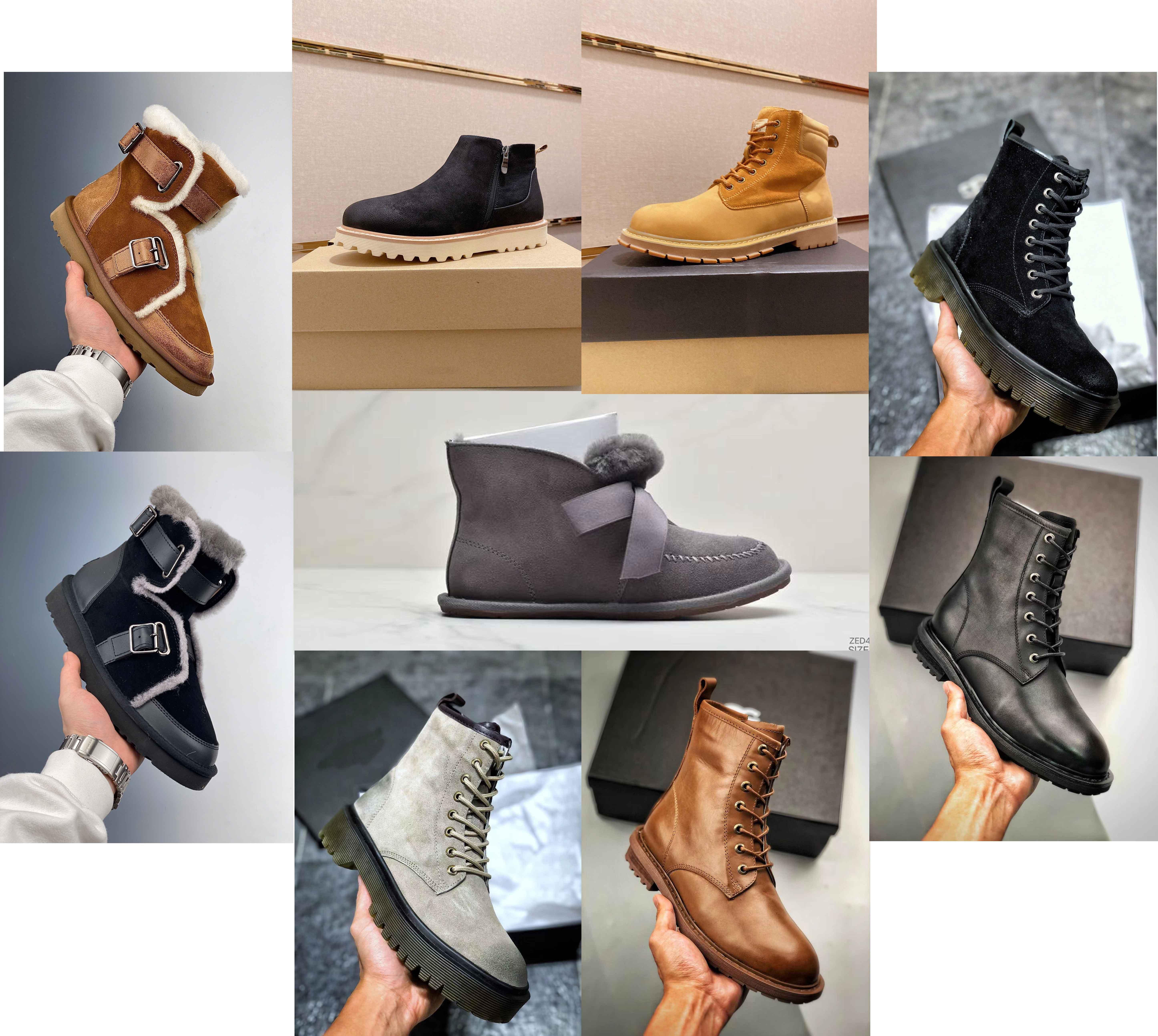 Tasarımcı Kadınlar Avustralya Avustralya Çizmeler Kadınlar Kış Kar Kürk Kürklü Saten Boot Deri Ayakkabı En Kaliteli Ayak Bileği Patik Kürk Deri Açık