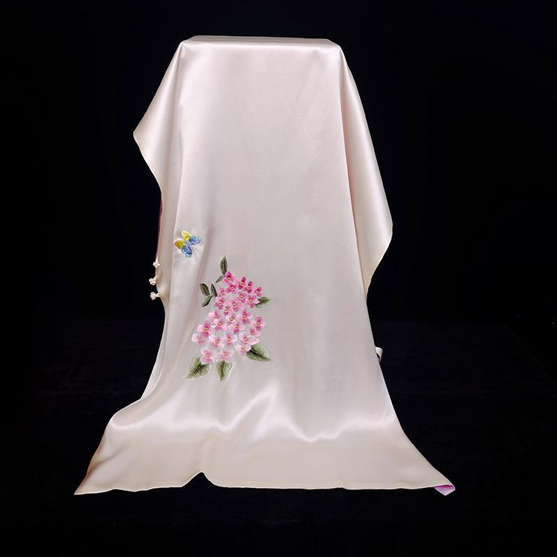 Шарфы Phoenix к облачной вышивке шарф китайский национальный ветровый плит пряжки ручной вышивкой шелк двойной Cheongsam шали
