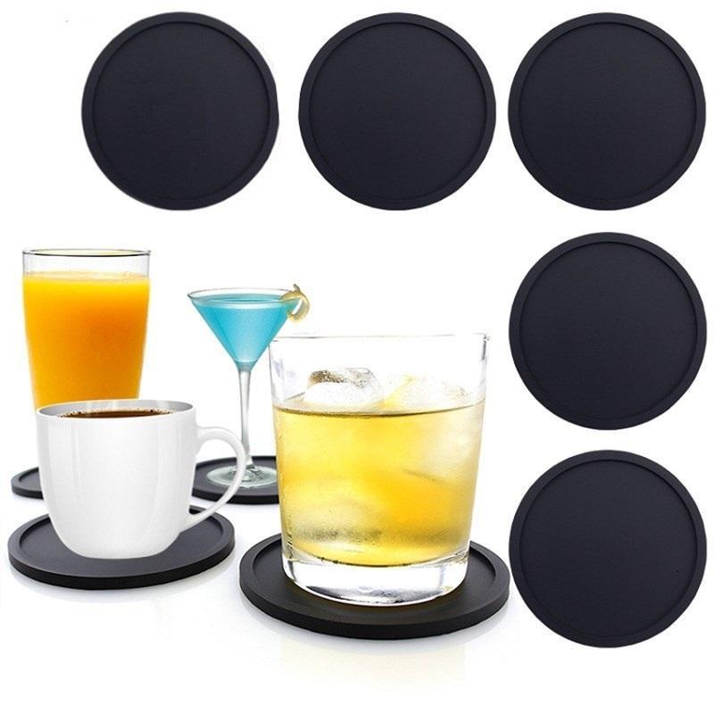 حار سيليكون الوقايات عدم الانزلاق كأس الوقايات مقاومة للحرارة كوب ميت لينة كوستر لحماية الطاولة نظارات الشرب T2I51718