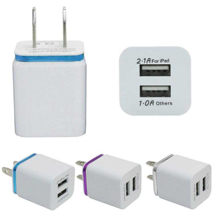 Металлические двойные USB-стены US Plug 2.1a AC адаптер питания настенный зарядное устройство 2 порт для Samsung Galaxy Note LG Tablet Huawei Xiaomi