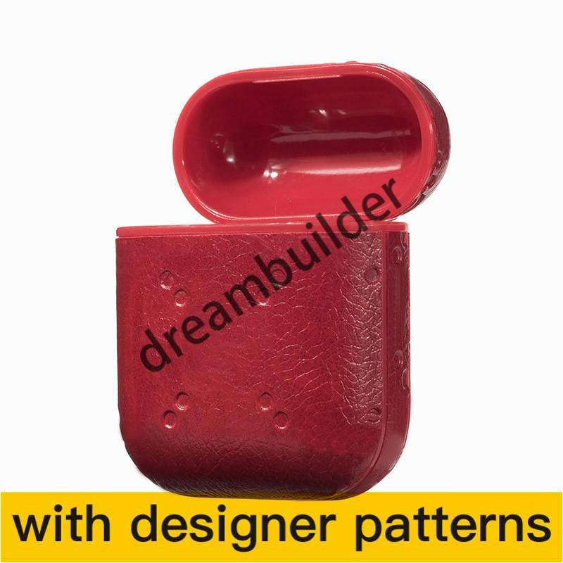5 لون مصمم aripods برو الحالات اللاسلكية بلوتوث سماعات واقية الأزياء الأزياء الإبداعية airpods 1/2 حالة headbset لون الليزر