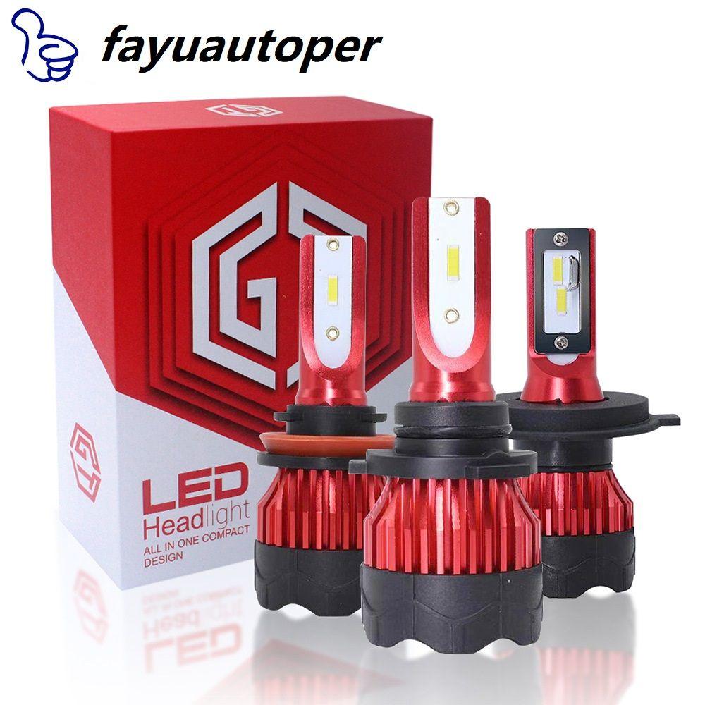 2pcs LED 12000LM / 쌍 미니 자동차 헤드 라이트 전구 H1 H7 H8 H9 H11 헤드 램프 키트 9005 HB3 9006 HB4 자동 램프 4300K 8000K