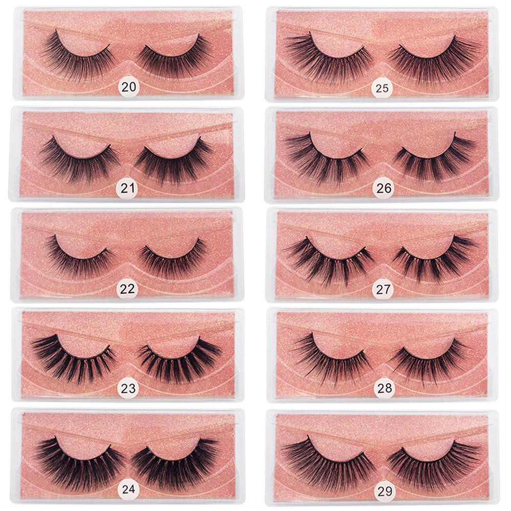 Mink Wimpern Großhandel 3D Mink Wimpern Set Natürliche falsche Wimpern Packung Make-up Mink Eye Lash Bulk Faux Cils