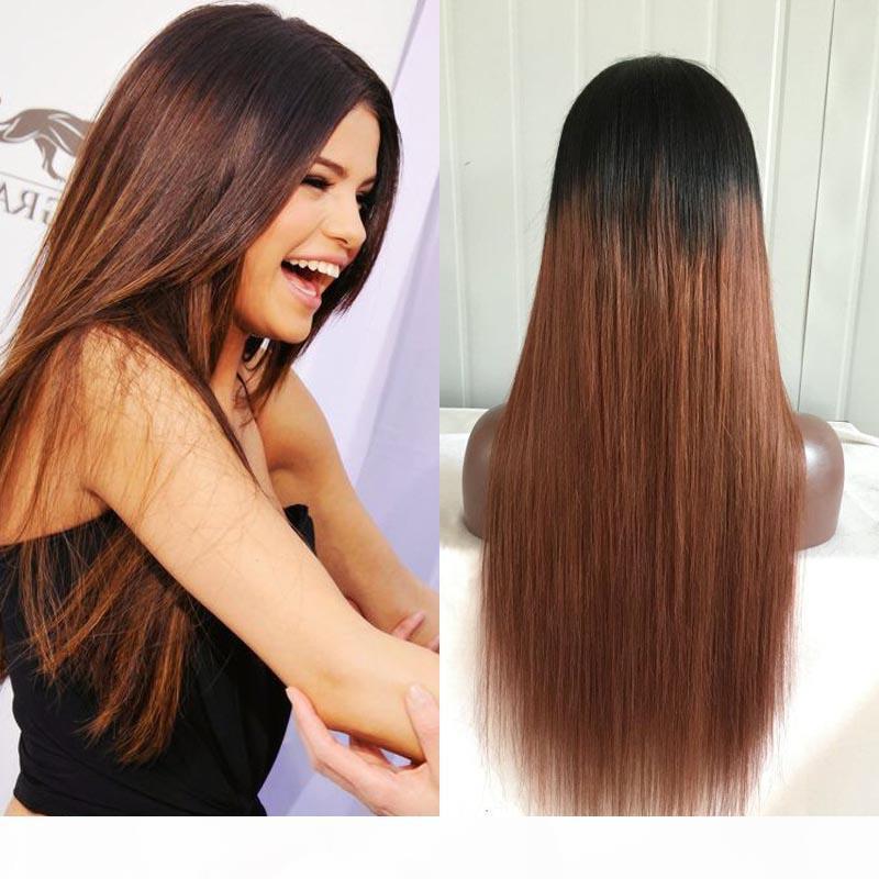 # 1b 30 перуанских человеческих ombre два тона полные кружевные парики человеческие волосы шнурка волос передний парик без глиной оммре полный кружевной парик