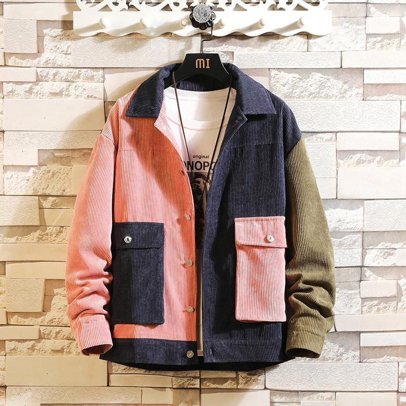 2021 New Bomber Corduroy Herren Streetwear Windjacke Korean Casual Herbst Spring Baseball Jacken Mäntel 42AZ