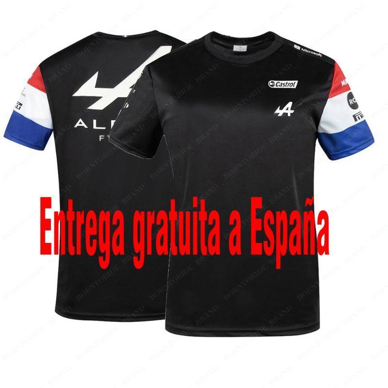 Гоночные куртки 2021 Alpine F1 Team Motorsport Футболка Blue Black Terchandise Jersey Teamly Teamline Короткая рукава Рубашка Одежда