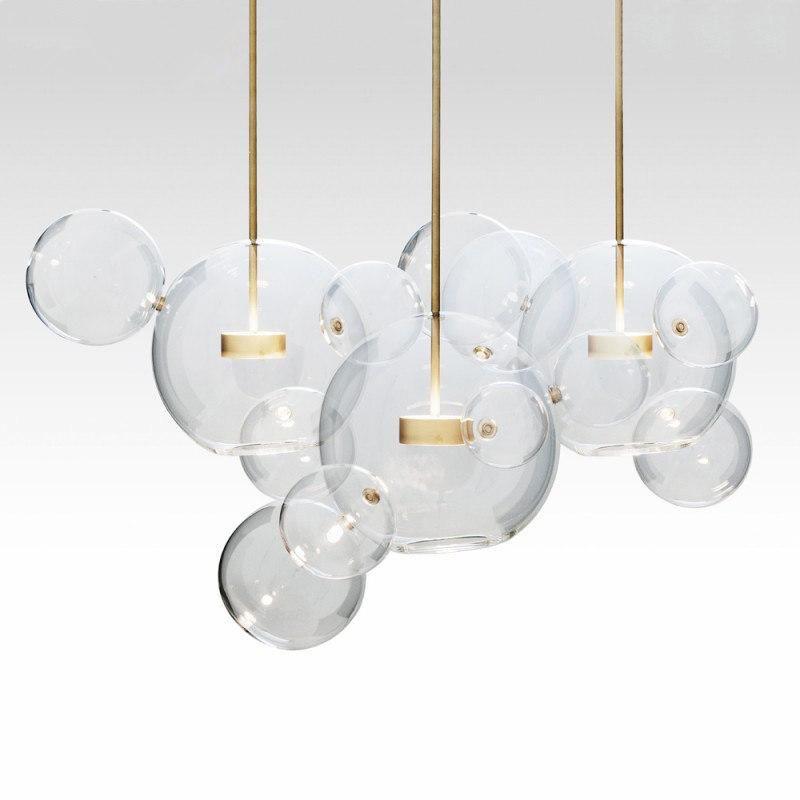 Nordic Wongshi Modern Klarglas Blasen Kronleuchter Beleuchtungsvorrichtungen 90-260V Beitrag Luminaria LED Pendelleuchte für Wohnzimmer