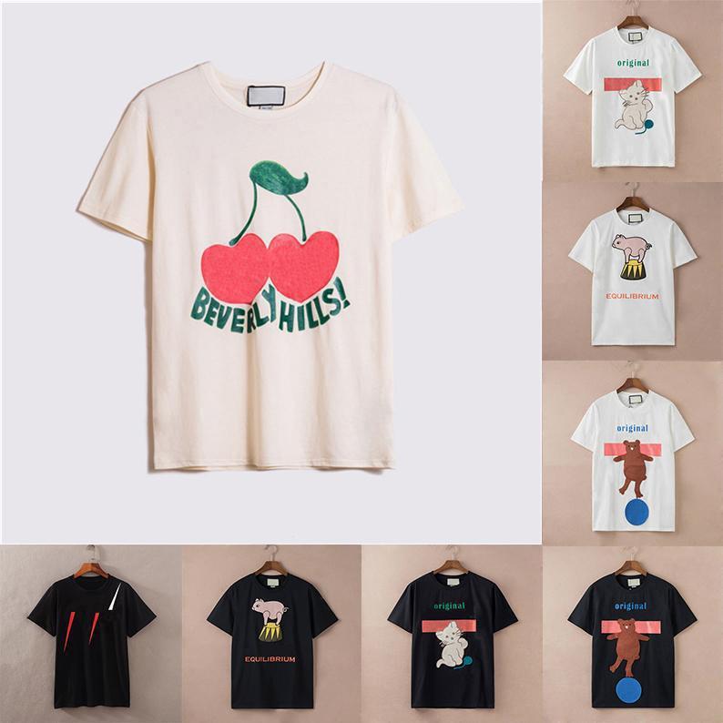 2021 Frauen Herren Designer T-shirts Tshirts Mode Tier Brief Druck Kurzarm Dame Tees Luxurys Womens Casual Kleidung 21ss