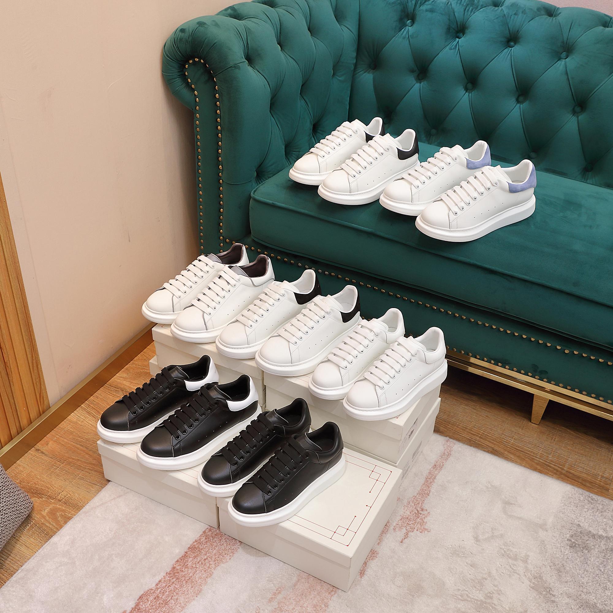 2021 hombres mujeres blancas zapatos casuales diseñador plano zapatos casuales reflectante tres en uno en blanco y negro de cuero de cuero zapatos casuales