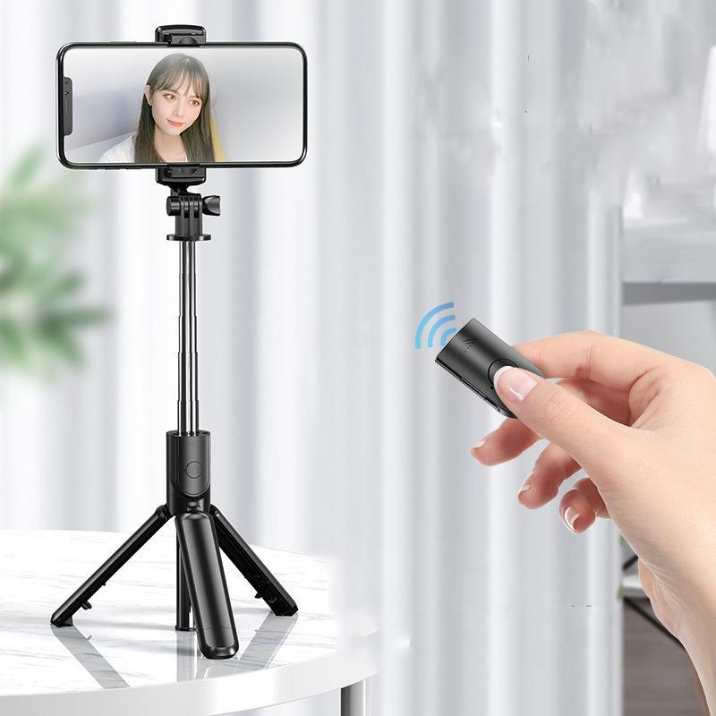 Wireless Smartphone Holder Selfie Stick Bluetooth Remote Shooting Tripod Mini Cell Phone Stand Portable for Outdoor Travel Video