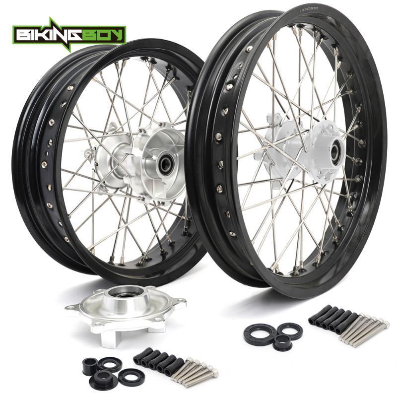 "Motorcycle Wheels & Tires BIKINGBOY Supermoto 3.0"" X 19"" 4.25"" 17"" Front Rear Wheel Rim Hub For G 310 GS 17 18 19 20 Cush Drive Bolt Com"