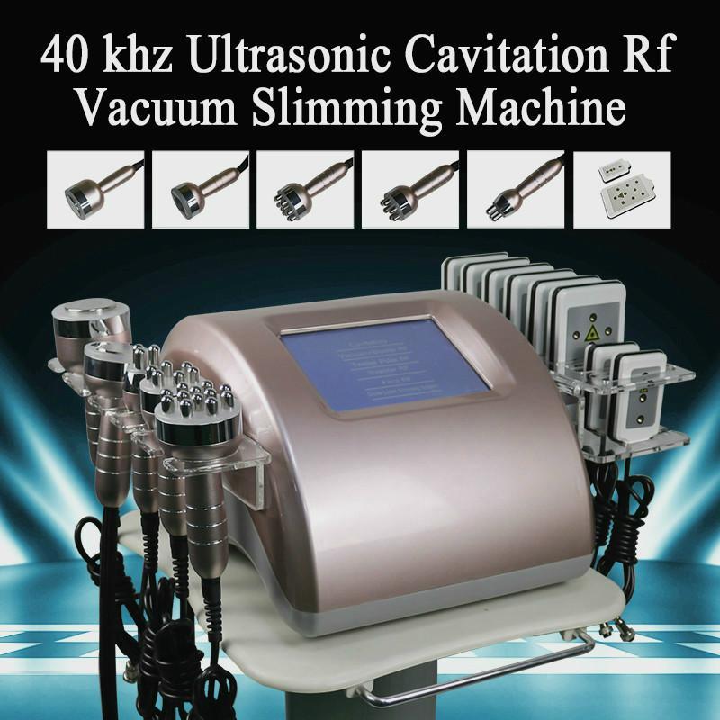 Hohe Qualität 7in1 Ultraschallkavitation Vakuum-Radiofrequenz-Lipo-Laserlaser-Maschine für den Spa-Gebrauch