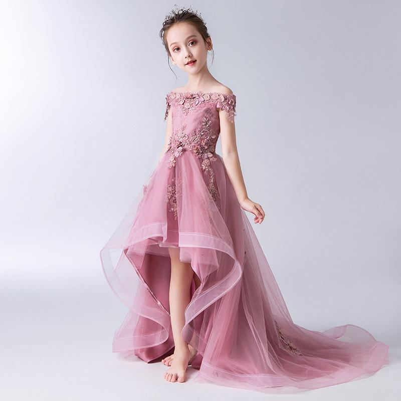 Vestido de niña de flores niños bridemaid sirena vestidos de novia para niños rosa tutu vestidos niñas boutique fiesta ropa elegantes vestidos