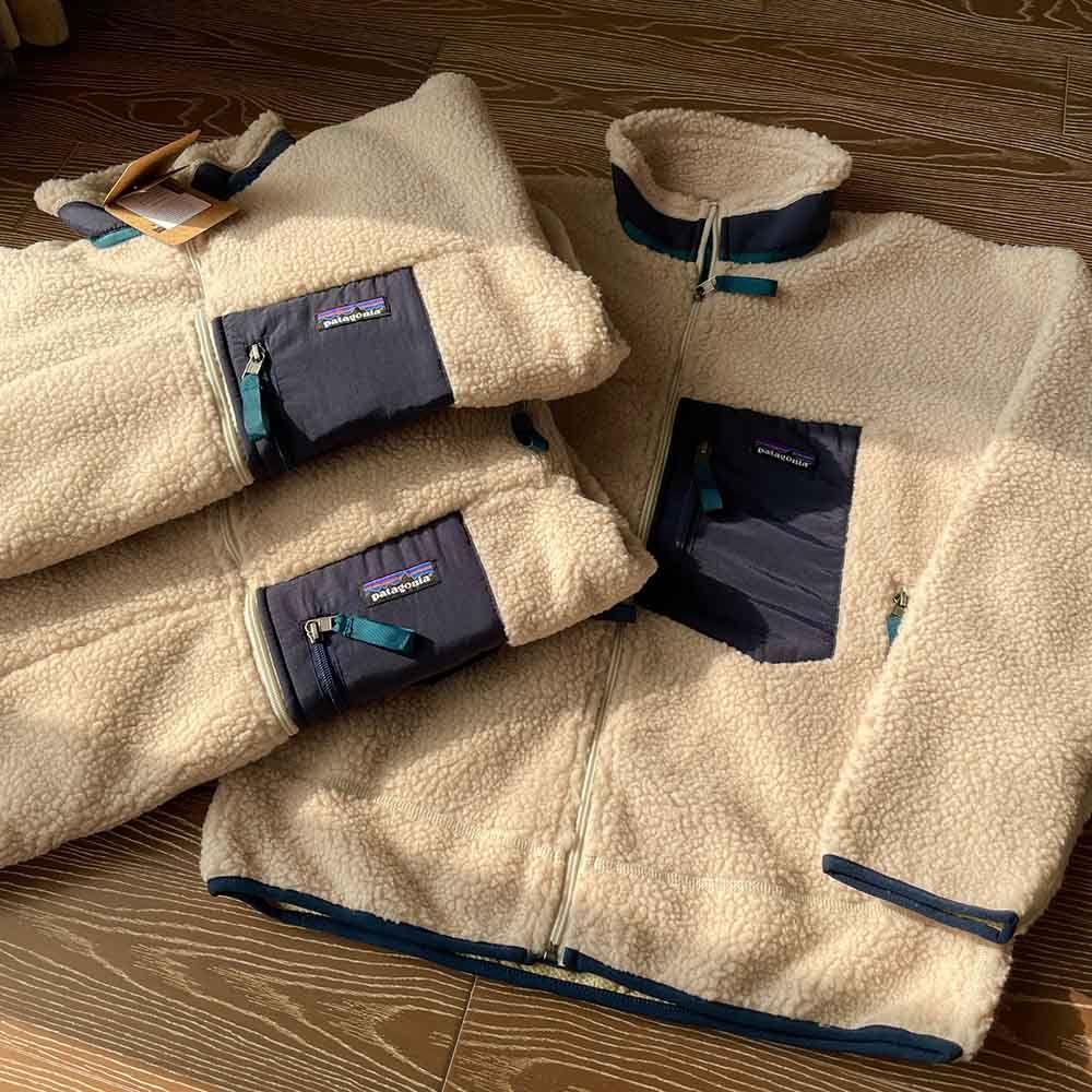 ¡PATAGONIA! Grueso cálido clásico retro-x otoño invierno pareja modelos cordero cachemira vellón abrigo para hombres ropa de mujer