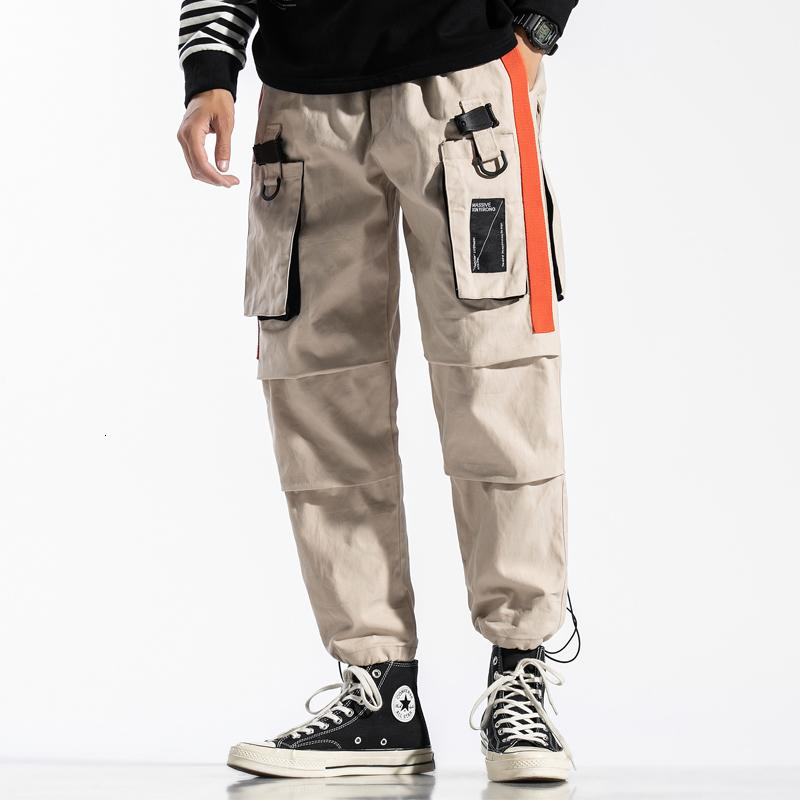 2021 nuevo Hip Harem Harem Carga Táctica Tactical Streetwear Casual LOTE CAMO Múltiples bolsillos Múltiples Pantalones de longitud completa QL5L