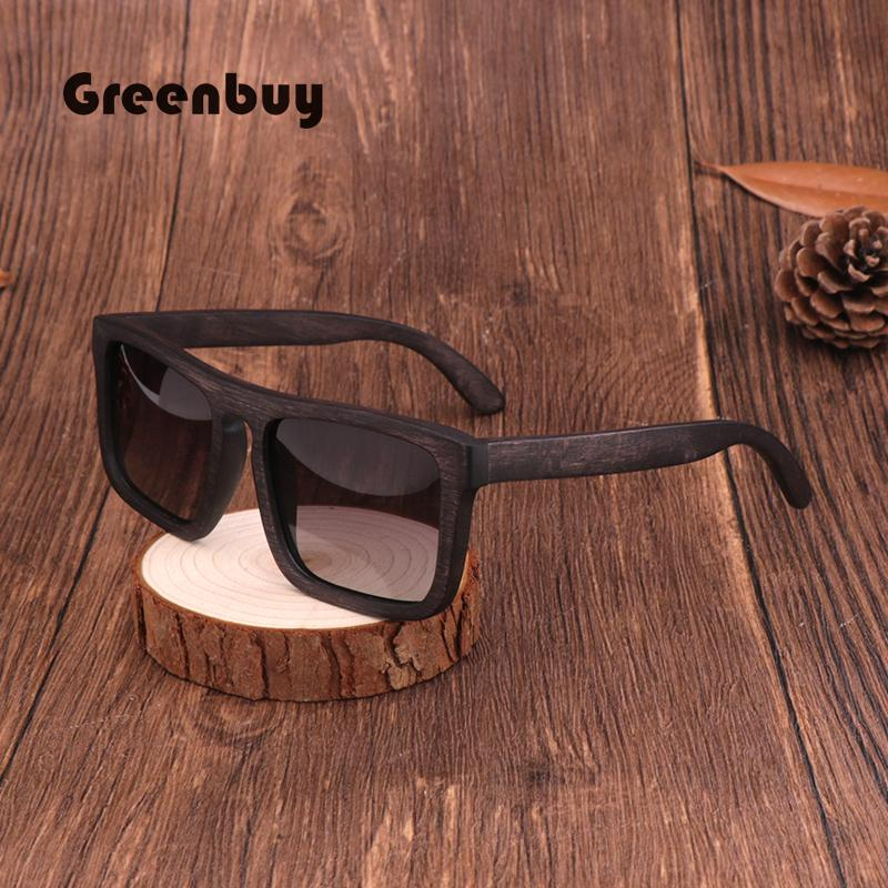 2019 vintage occhiali da sole dumu legno polarizzato uv400 marchio marchio maschio bicchieri occhiali da sole occhiali da sole donna occhiali quadrati # GB2065 x0125