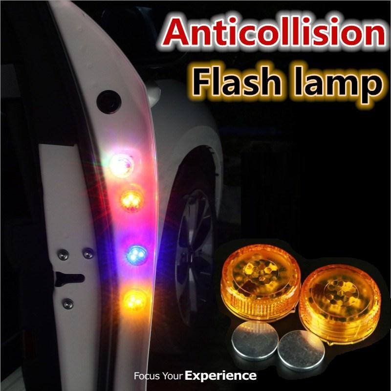 2шт беспроводной магнитный светодиодный автомобиль дверь предупреждающий световой лампочку Стробная вспышка водонепроницаемая антизаконная стойка светодиодная лампа безопасности