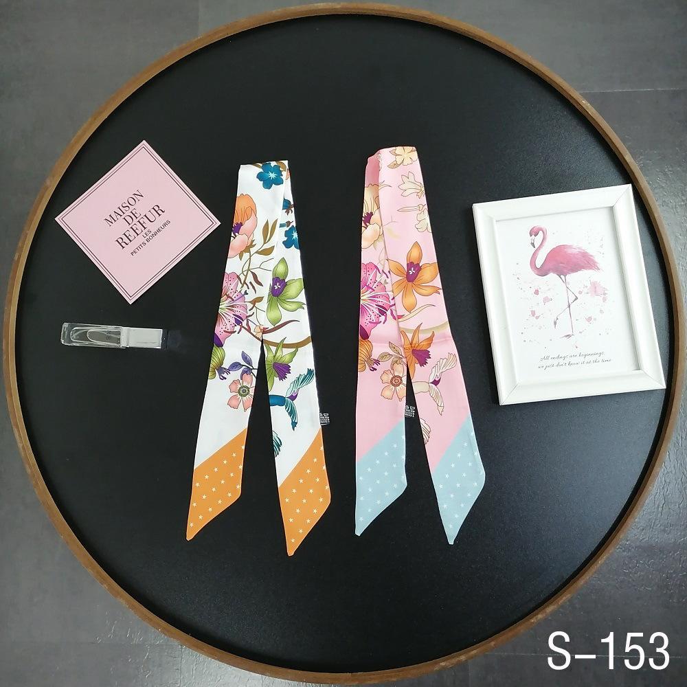 Instruo de la seda coreana de la seda y la franja estrecha estilo extranjero de moda versátil otoño otoño cinta decorativa bufanda