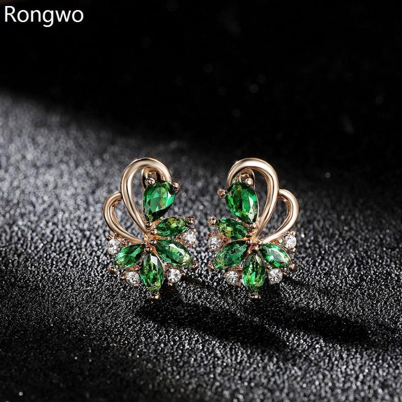 Trendy femenino cúbico zirconia perno pendientes colorido cristal piedra accesorios accesorios pequeños pendientes para mujer regalo estético