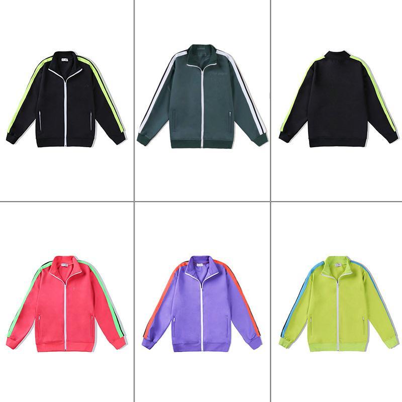 2021 새로운 도착 팜 인쇄 디자이너 자켓 남성 여성 봄 가을 겉옷 재킷 블랙 레드 탑 조깅 스포츠 천사 코트