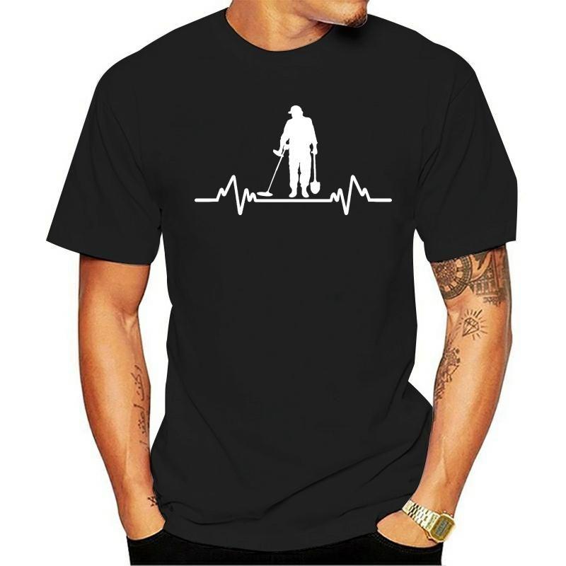 T-shirt da uomo T-shirt Metal Detector Heartbeat Retectorist T-shirt
