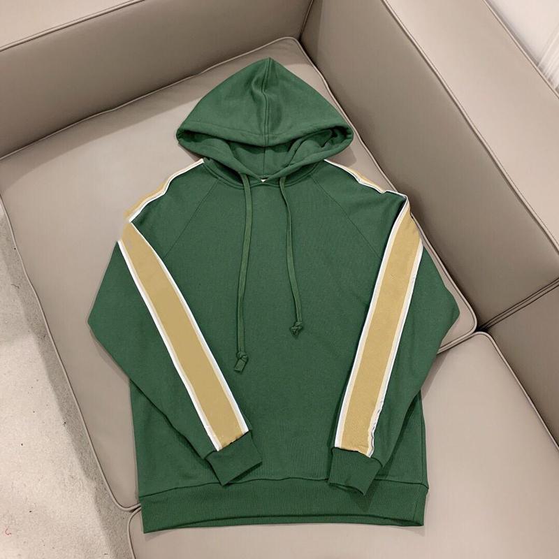 남자의 느슨한 까마귀 스웨터 가을 녹색 검은 회색 리본 편지 반사 유럽 고급 디자이너 숙녀 상위 사용자 정의 후드