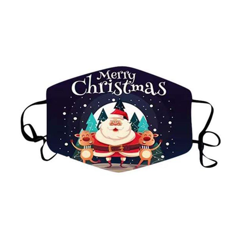 Mascarillas de cara impresa Fashion Face Navidad Máscaras de Navidad Anti polvo niebla Copo de nieve Cubierta Boca transpirable Lavable Reutilizable MA XHWKNW