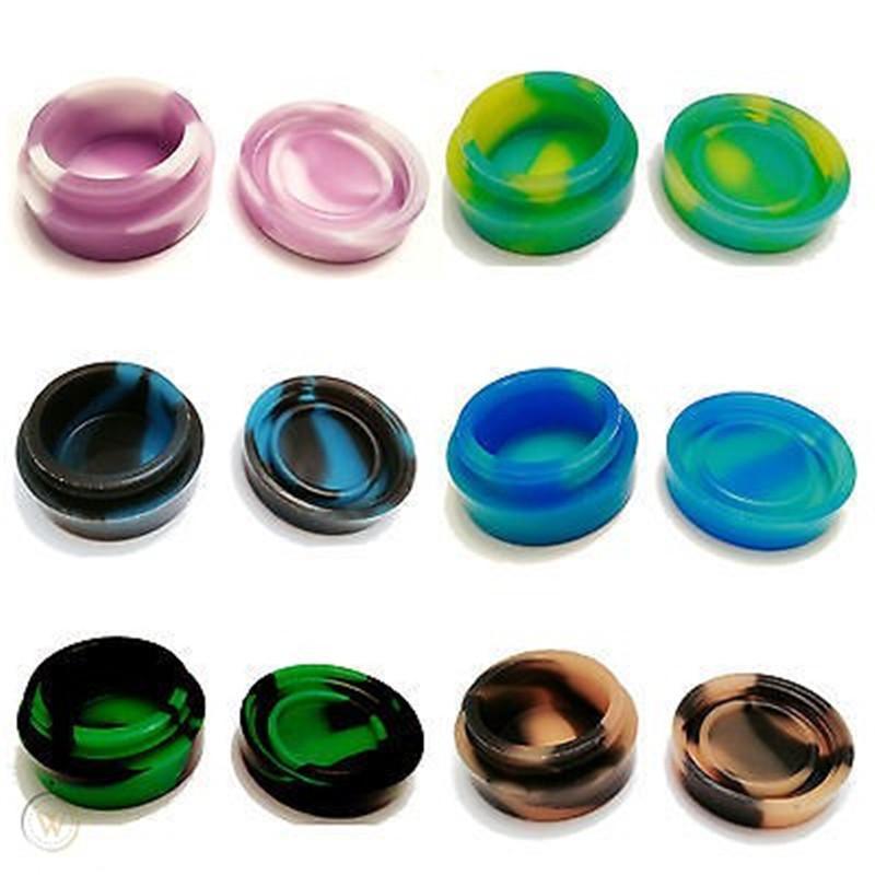 5 ml Vape Çanta Balmumu Konteyner Tıbbi Herb Shisha Nargile için Küçük Silikon Kavanozlar Çin Whosale Ücretsiz Örnek Farklı Renkler Sağlayın