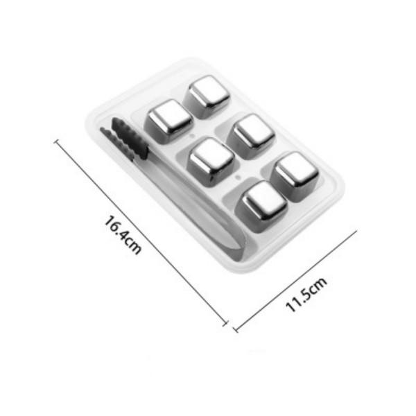 304 Stainless Steel Ice Cube Reusable Chilling Stones for Whiskey Wine Keep Your Drink Metal Ice Whiskey Red Wine Cooling GWE5250