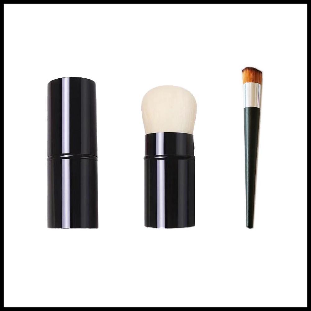 Cepillo de Kabuki retráctil de Epack CC / Petit Pinceau Kabuki / Cepillo de contorno en ángulo - Rubor de calidad / Polvo Fundación Pinceles de maquillaje