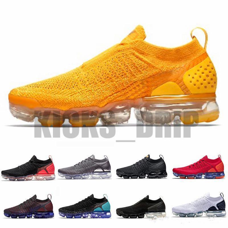 En Kaliteli Fly 2.0 3.0 Sneakers Örgü Erkek Kadın Koşu Ayakkabıları Üçlü Siyah Beyaz CNY Gökkuşağı Spor Ayakkabı Tag hediye