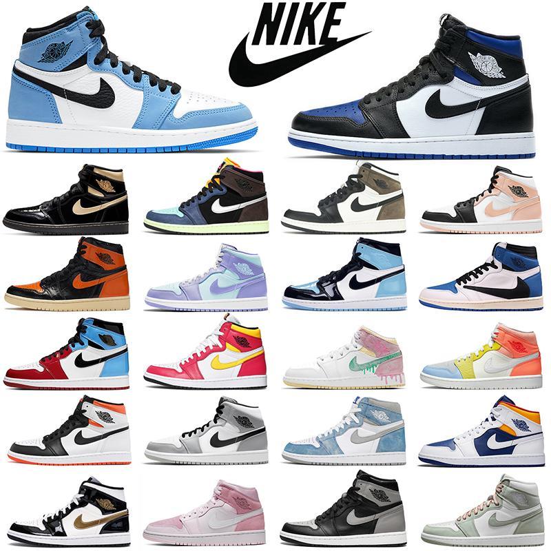 Мода дешевле ретро воздух jordan 1s мужские баскетбольные туфли aj1 jumpman 1 brod toe chicago запрещенные тень женщины мужские тренеры спортивные кроссовки оптом dropshipping