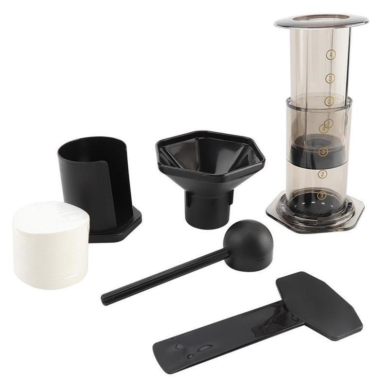 350ml Neues Filterglas Espresso Kaffeemaschine Tragbare Café Französisch Presse Cafecoffee Pot für Aeropress Machine 372 V2