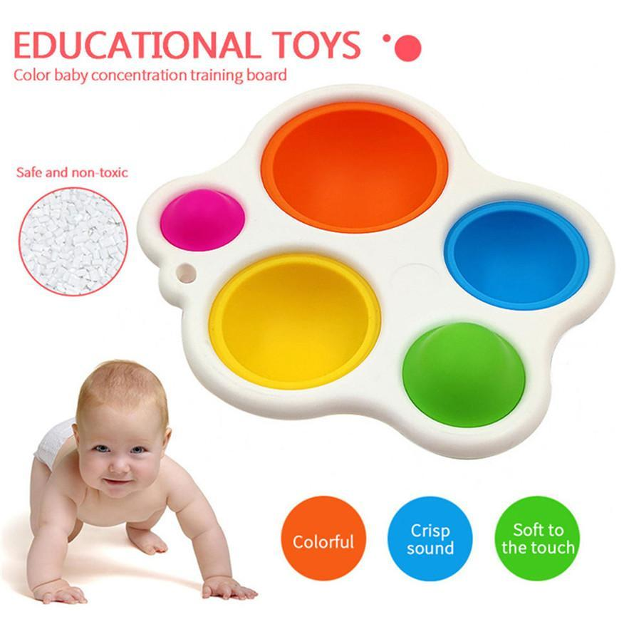 Push Bubble Fidget Sensory Toy Autism Needs Squishy Stress Reliever Toys Baby Sensory Simple Dimple Toys And Gifts Practical Jok