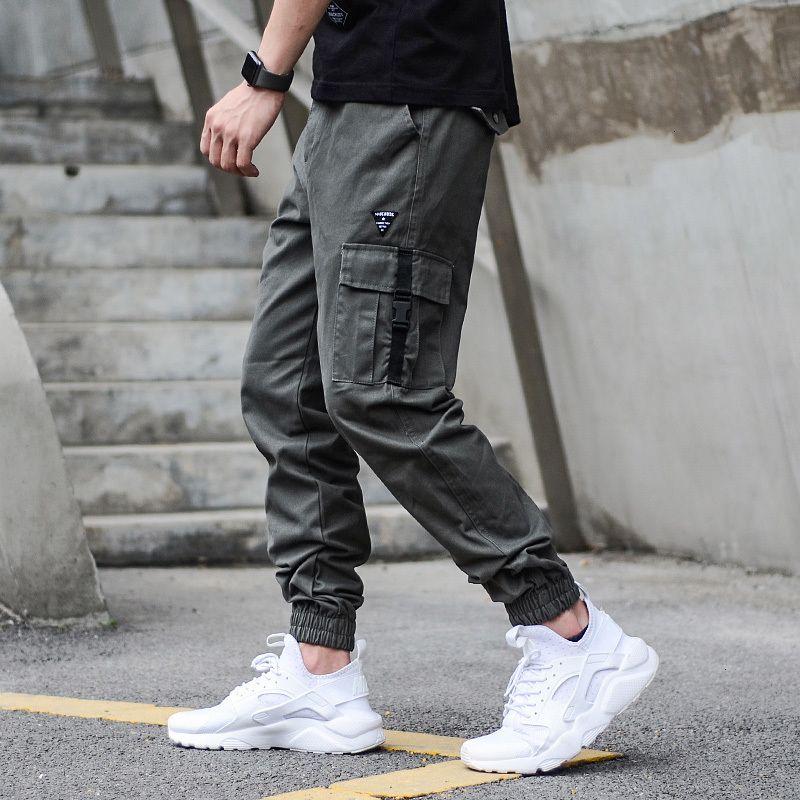 2021 Neue japanische Mode Big Pocket Streetwear Hip Hop Designer Joggers Hosen Männer Ehfv