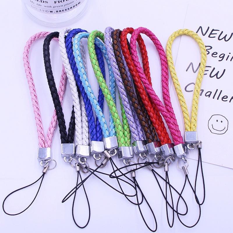 Lã misturada PU couro tecido celular Chave Chave Chave Chave Couro Caixa de telefone celular Pingente U CORBULAR