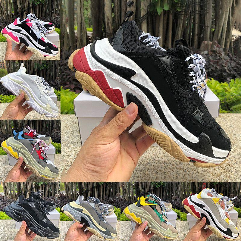 Triple S Meilleur Quailty Noir Blanc Rouge De Mode Vieux Papa  Chaussures Hommes Femmes En Plein Tennis Sneaker US5.5-11