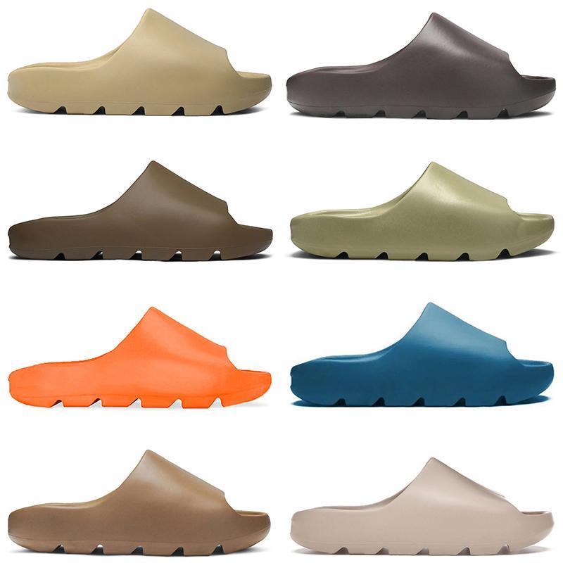 Alta Qualidade Homens Mulheres Deslize Sandálias Ao Ar Livre Sapatos de Praia Slipper Desert Areia Enfora Laranja Terra Marrom Resina Mens Chinelos