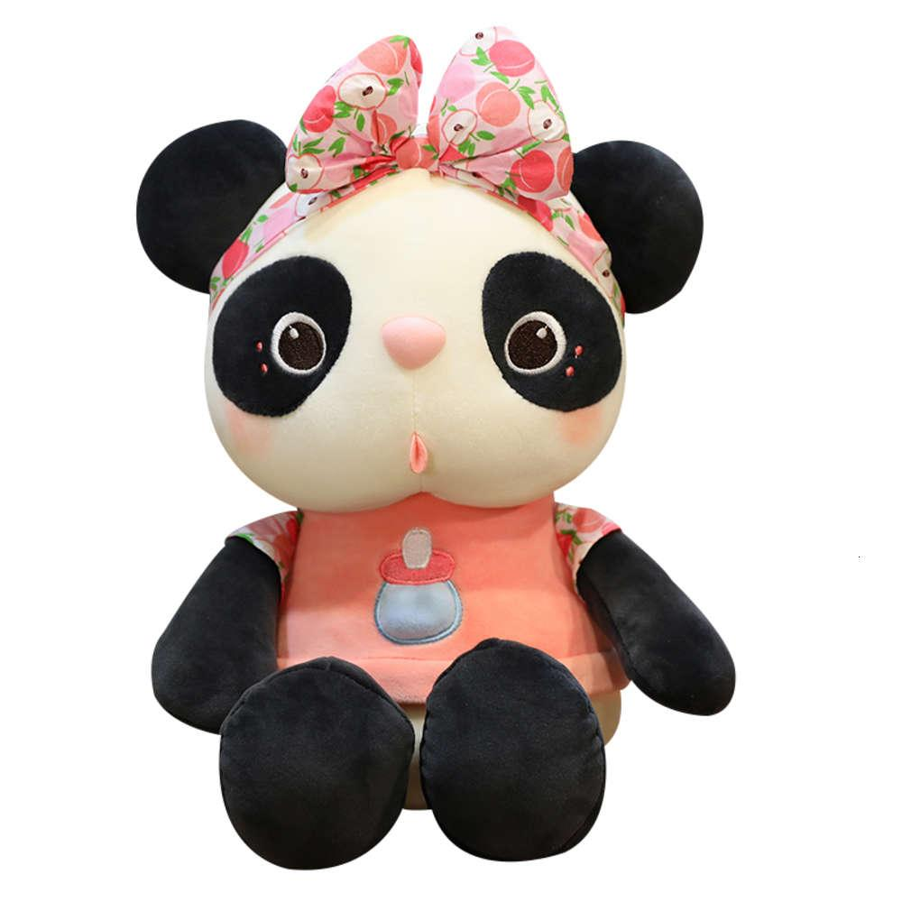 Red Blanco y negro Panda Muñeca Super Net Linda peluche Pequeño juguete Pequeña muchacha