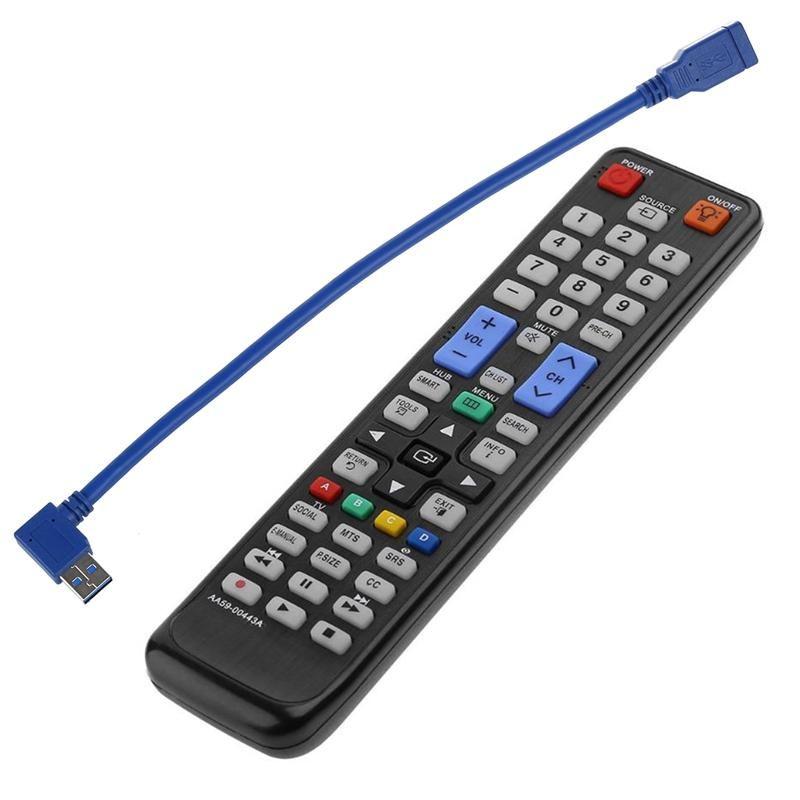 22 cm USB USB 3.0 90 90 degrés Adaptateur de câble M / F universel 59-00443A Smart TV Télécommande pour UN32D6000