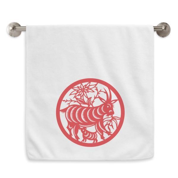 Papel-corte de ovejas Animal China Zodiaco Arte Mano Toalla de Toalla Facel Poquilla de Algodón Suave