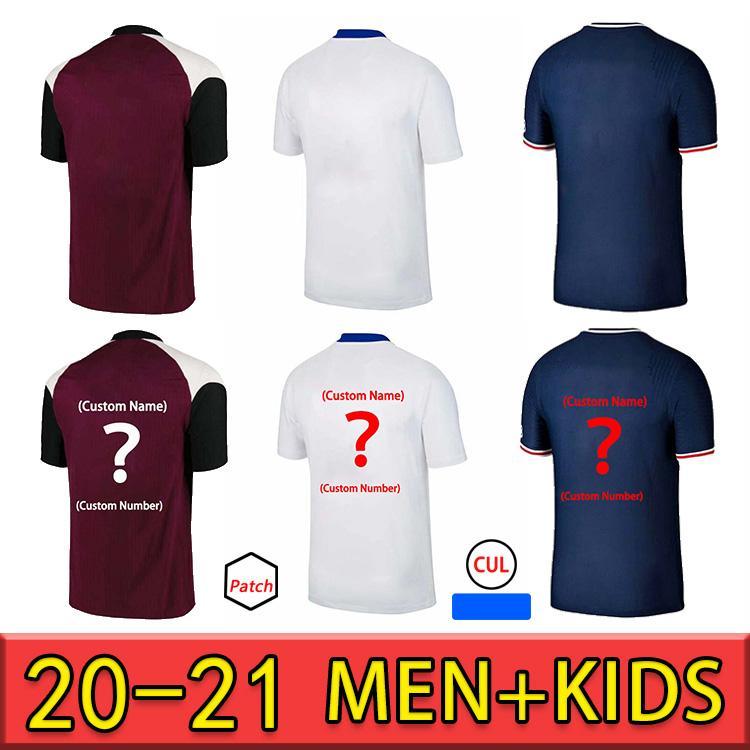 20 21 Thai Mbappe Kean Soccer Jersey Verratti 2020 2021 Marquinhos Kimpembe di Maria Football Jersey Soccer Tops Camisa de los hombres y juegos para niños
