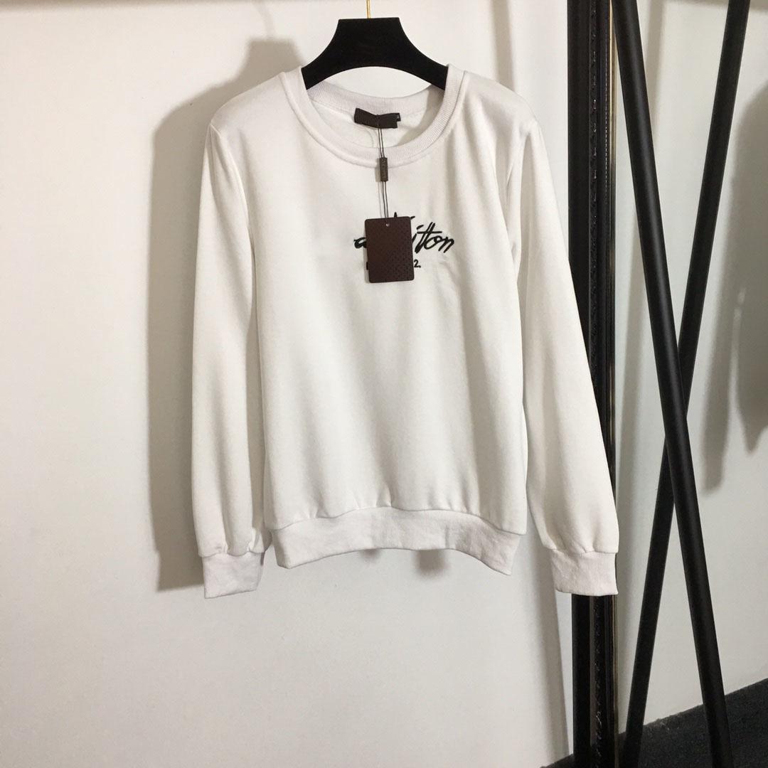2021 primavera nova moda marca senhoras camisola tecido confortável e elegante all-matchc2
