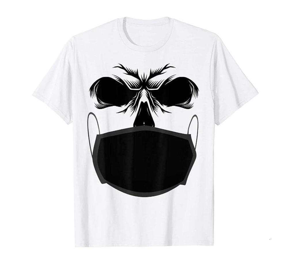Crânio masculino Costumes de Halloween T-shirt Moda Camisetas Marcas Homens Poloshirt Chegadas Novas Favorito