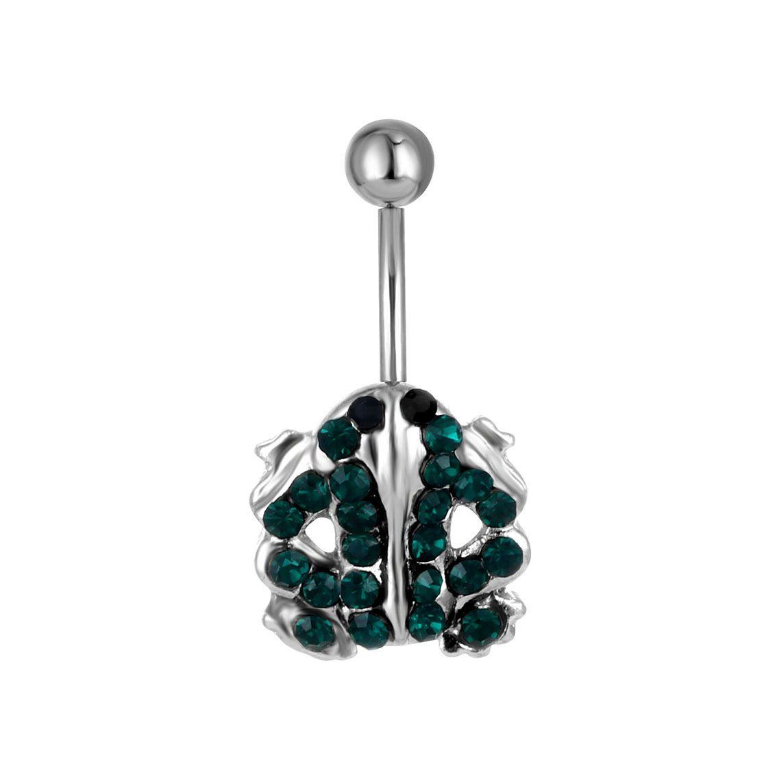 D0493 (1 Färg) Groda Navel Belly Ring, Piercing Body Jewlery Belly Button Ring, Fixing Belly Bar (10PCS / Lot) JFC-5464