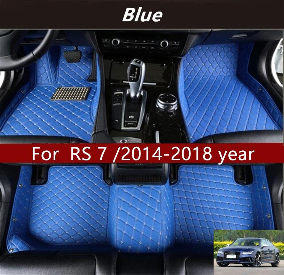 For Audi RS 7 /2014-2018 year Car Floor Mats Customized Car Waterproof Leather Wear-resistant Environmentally Friendly Non-toxic Mats