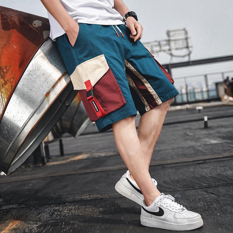 Мужские шорты 2021 летние мужские повседневные спортивные грузы Средние брюки мода твердого цвета свободно тонкие многократные спортивные штаны мужчины S-4XL