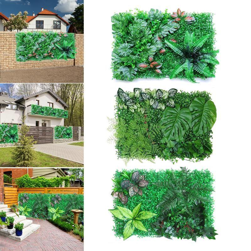 Planta artificial Hedge Panel UV Privacidad Privacidad Matera de hierba Panel de vegetación Decoración de la pared Pantalla de valla para jardín al aire libre Backyard