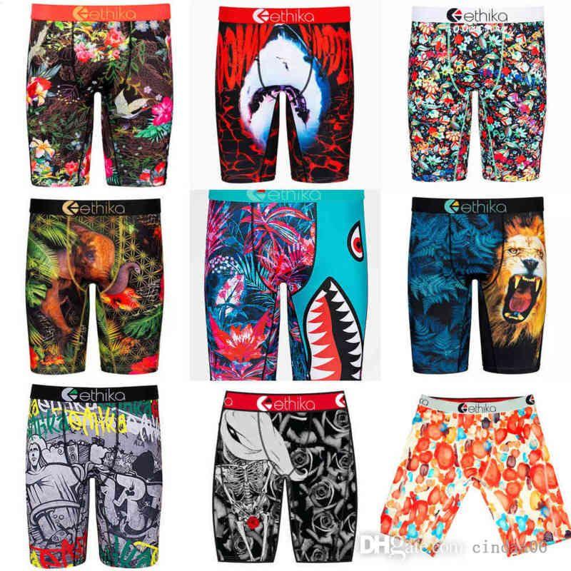 Erkekler Ethika Şort OPP Torba ile Spor Teknik İç Çamaşırı Hızlı Kuru Külot Boksörler Grafiti Baskı Şort Tayt Kadın Plaj Swim Sandıklar Pantolon